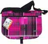 【YAKPAK】614 FUCHSIA CLASSIC PLAID 646 MESSENGER BAG ヤックパック