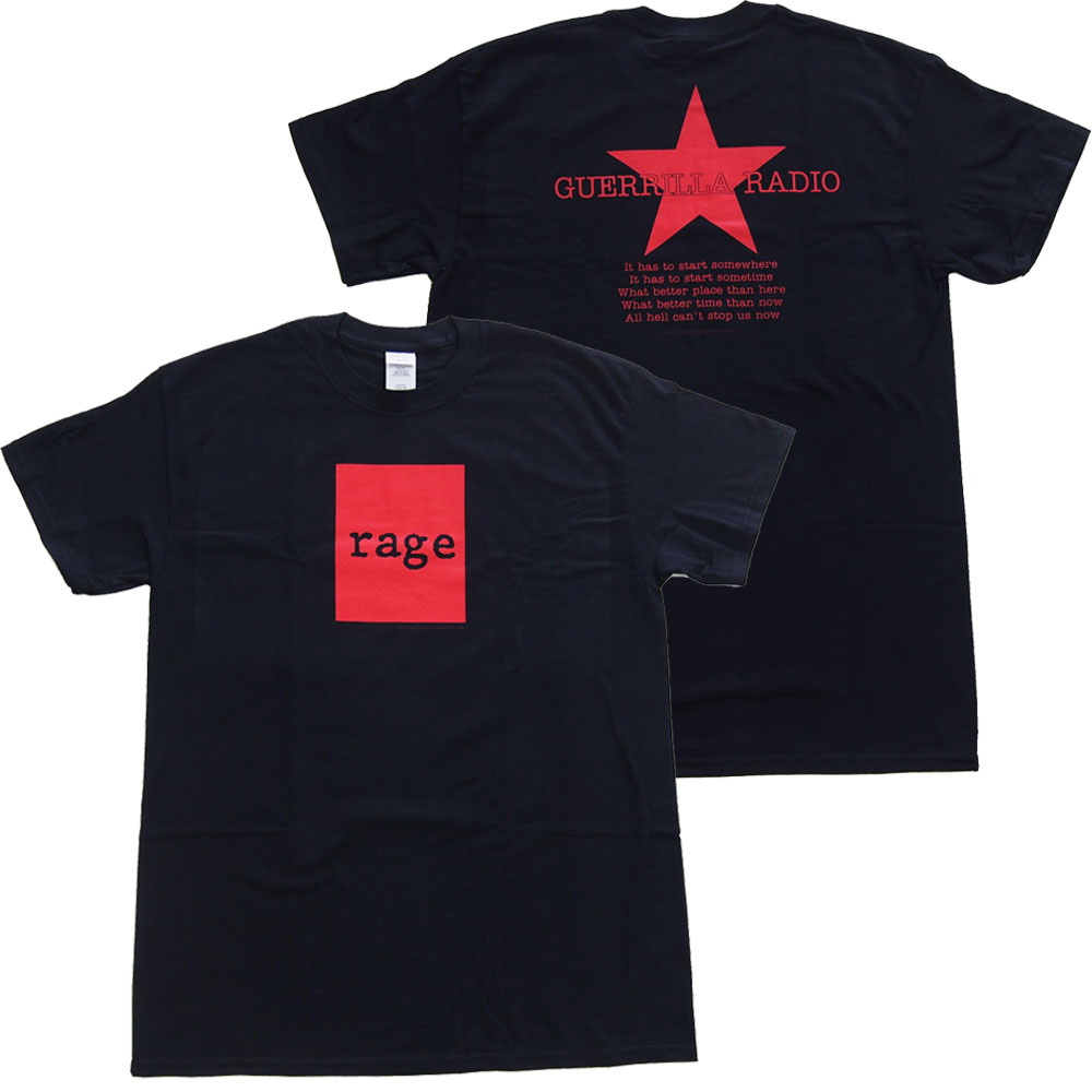 RAGE AGAINST THE MACHINE レイジ アゲインスト ザ マシーン RED SQUARE Tシャツ