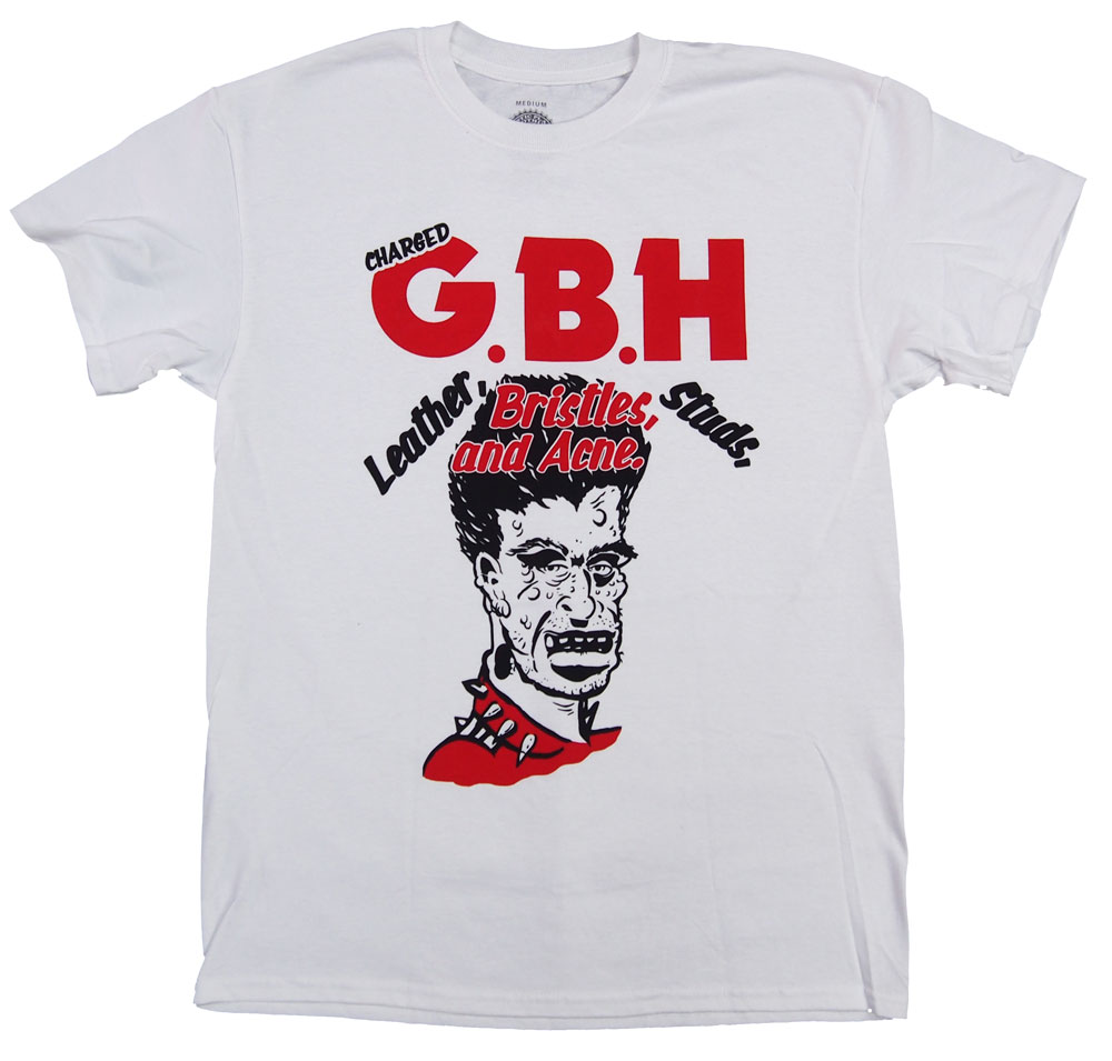 GBH・G.B.H. ・LEATHER, BRISTLES,STUDS,AND ACNE Tシャツ・バンドTシャツ