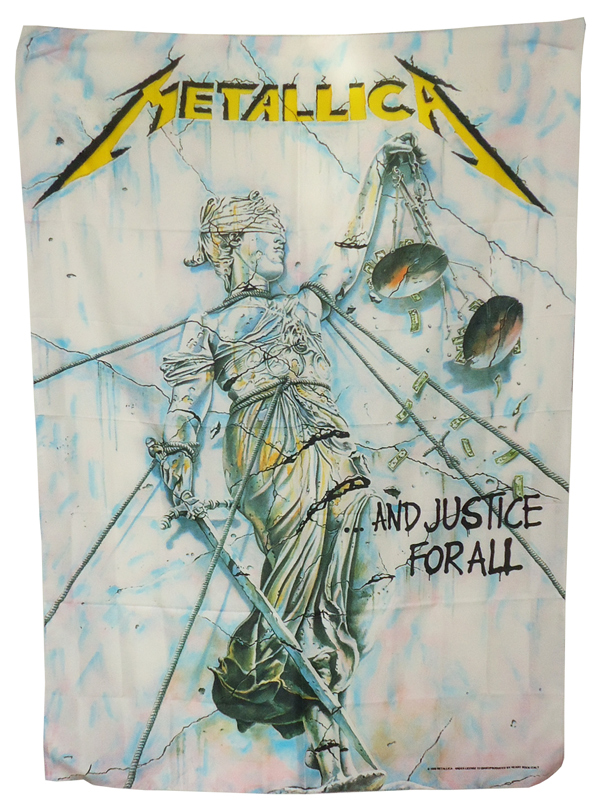 【METALLICA】JUSTICE FOR ALL 薄手布ポスター メタリカ オフィシャル ポスターフラッグ