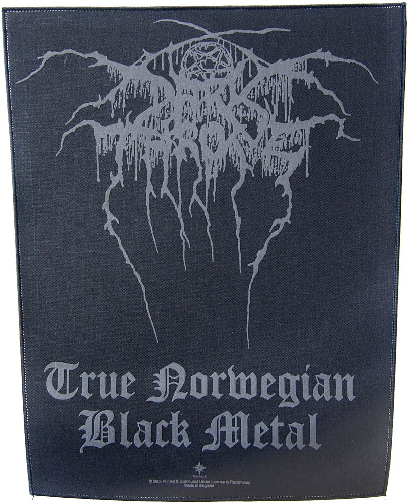 【DARKTHRONE】TRUE NORWEGIAN BLACK METAL バックパッチ ダークスローン