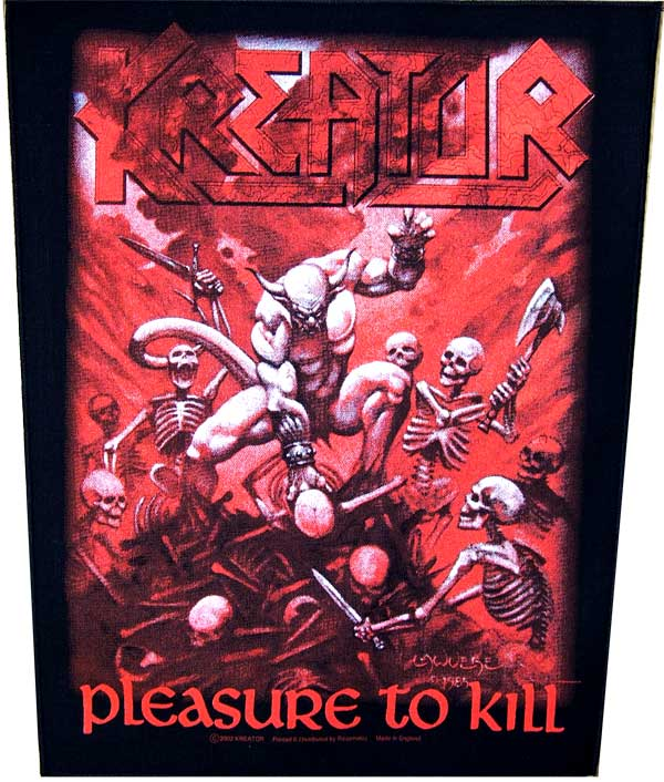 【KREATOR】PLEASURE TO KILL バックパッチ