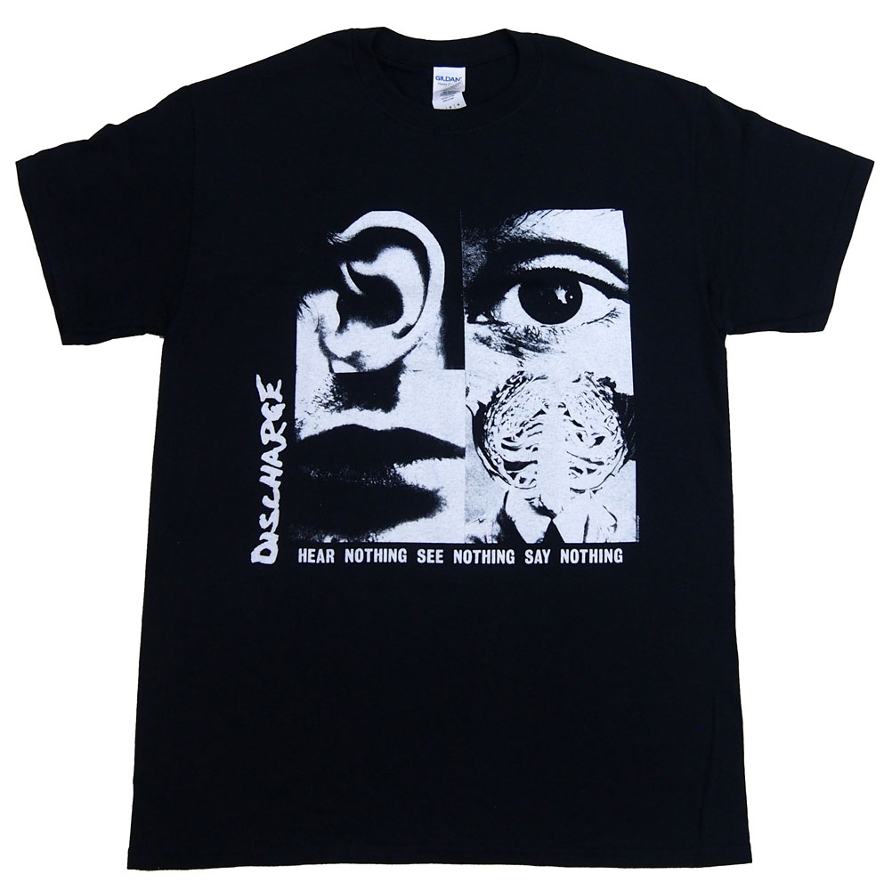ディスチャージ DISCHARGE HEAR NOTHING UK版 Tシャツ