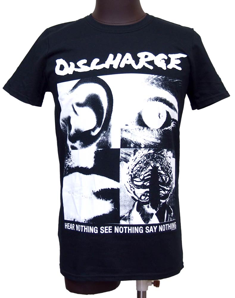 【DISCHARGE】HEAR NOTHING バンドTシャツ