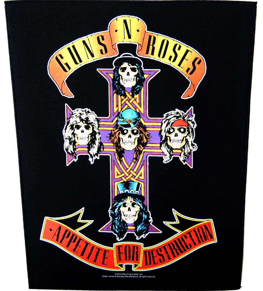 【GUNS N' ROSES】APPETITE FOR DESTRUCTION BACKPATCH ガンズ&ローゼズ バックパッチ