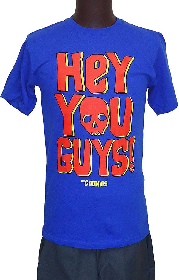 【THE GOONIES】HEY YOU GUYS BLUE 映画Tシャツ