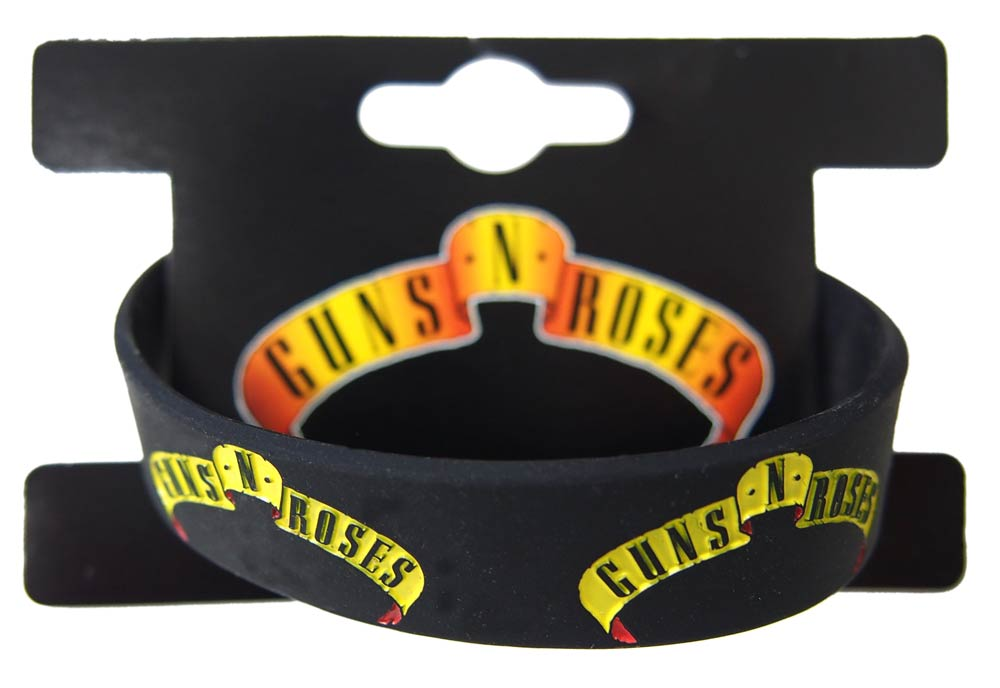 【GUNS N' ROSES】LOGO BANNER GUMMY BAND ガンズ&ローゼズ