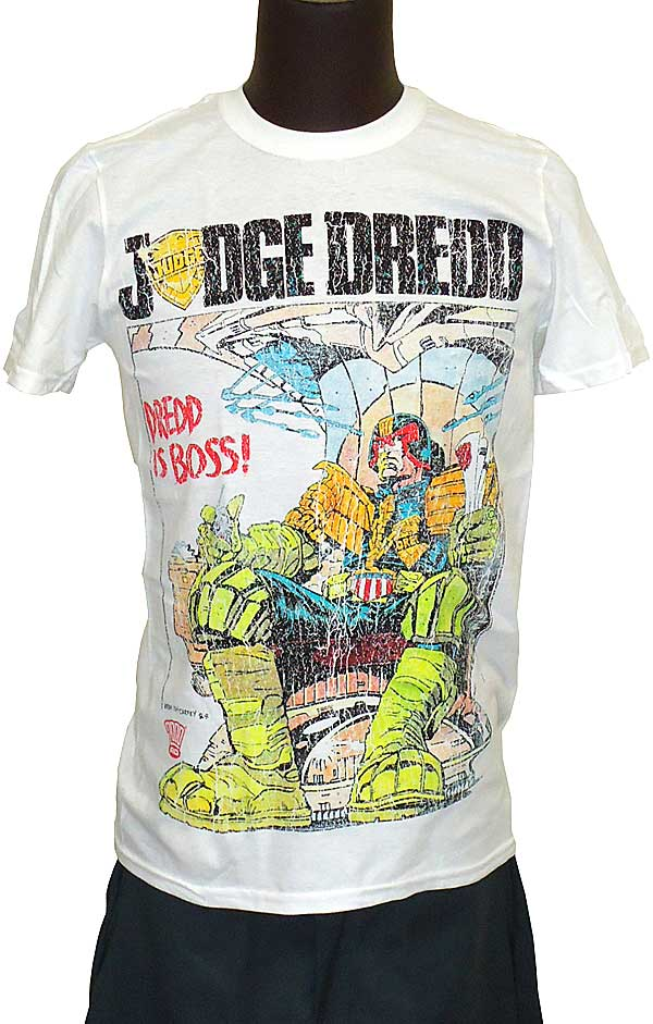 【JUDGE DREDD】DREDD IS BOSS コミックスTシャツ