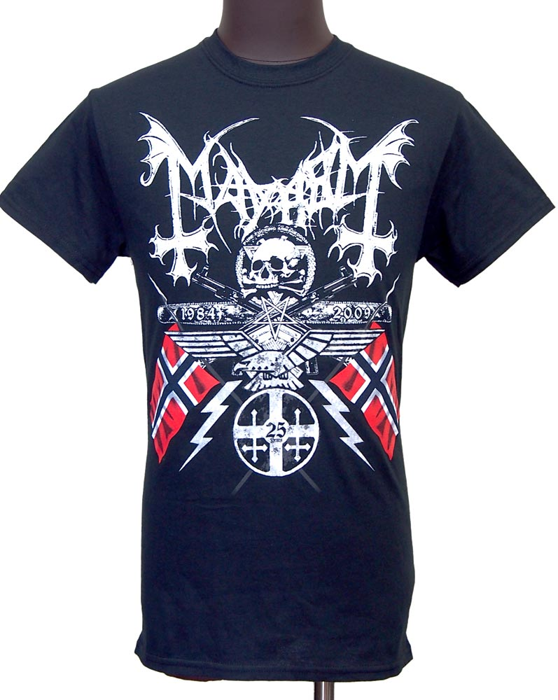 【MAYHEM】25 YEARS COAT OF ARMS バンドTシャツ