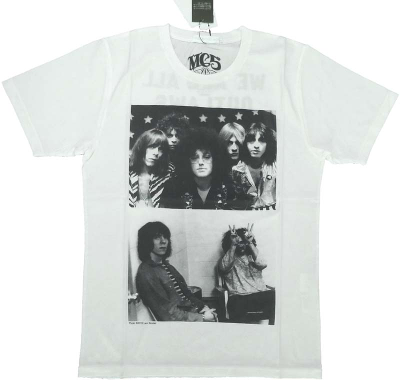 【HYSTERIC GLAMOUR】MC5 OUTLAWS Tシャツ クリーム THEE HYSTERIC XXX 正規品