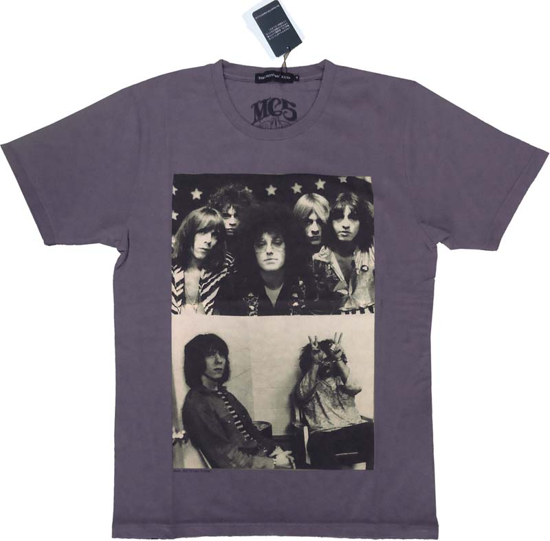 【HYSTERIC GLAMOUR】MC5 OUTLAWS SサイズTシャツ パープルTHEE HYSTERIC XXX 正規品