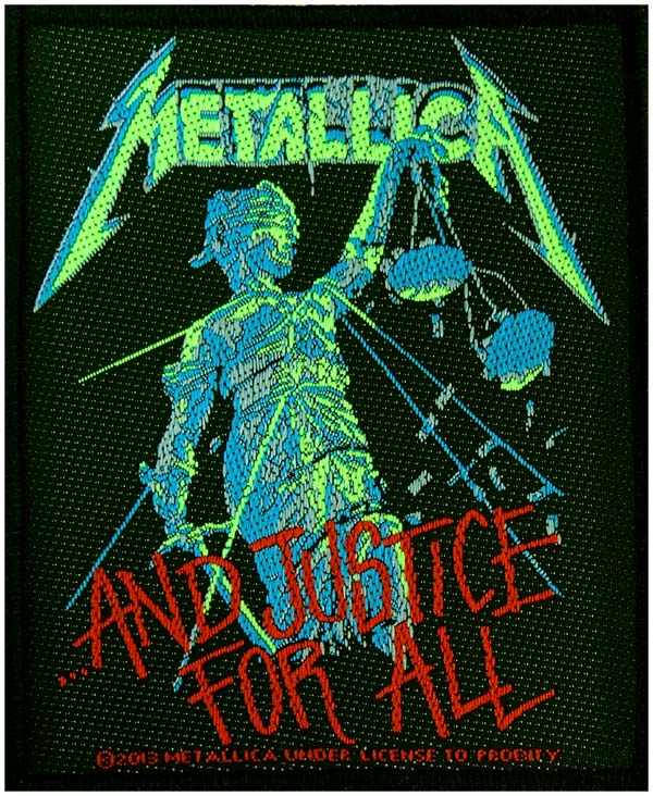 【METALLICA】JUSTICE FOR ALL 糊なし刺繍ワッペン メタリカ パッチ