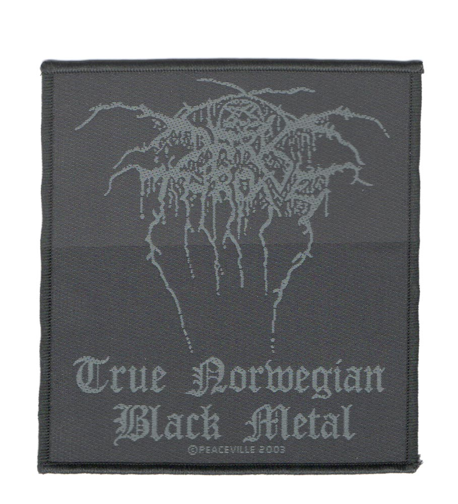 【DARKTHRONE】TRUE NORWEGIAN BLACK METAL ノリ無し刺繍ワッペン