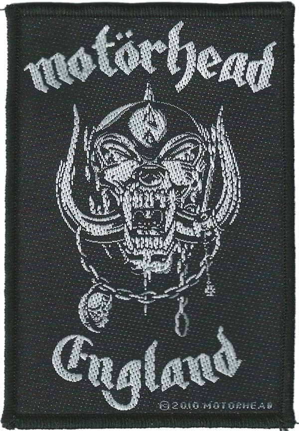 【MOTORHEAD】ENGLAND PATCH  糊なしPATCH モーターヘッド