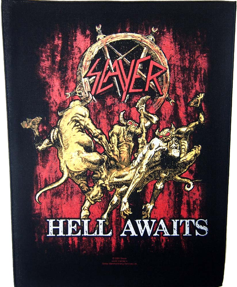 【SLAYER】HELL AWAITS BACK PATCH スレイヤー オフィシャル バックパッチ