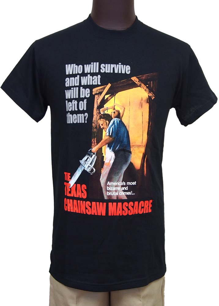 【THE TEXAS CHAINSAW MASSACRE】BIZARRE & BRUTAL CRIMES ムービーTシャツ