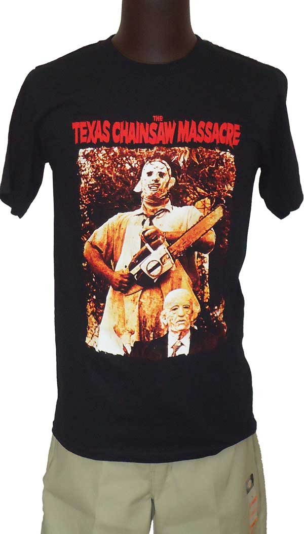 【THE TEXAS CHAINSAW MASSACRE】LEATHERFACE & GRANDPA オフィシャル映画Tシャツ