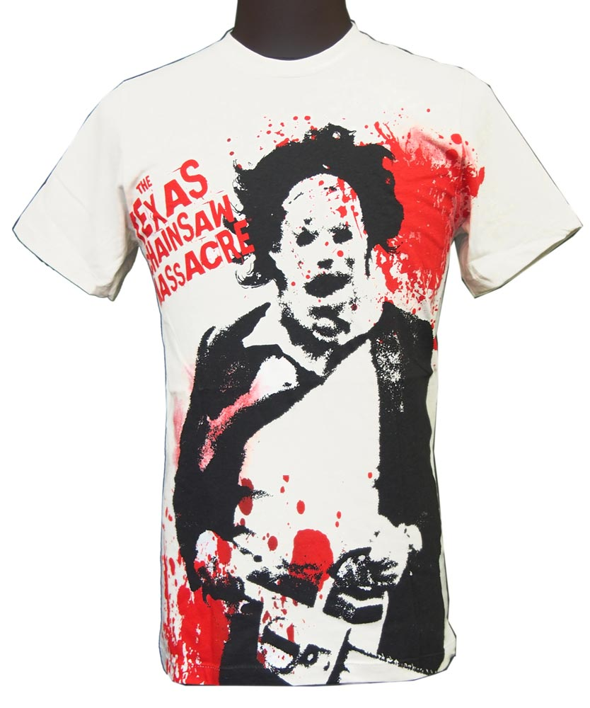 【THE TEXAS CHAINSAW MASSACRE】SPATTER BIG PRINT  ムービーTシャツ