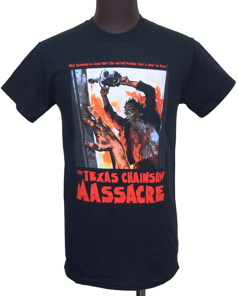 【THE TEXAS CHAINSAW MASSACRE】WHAT HAPPENED IS TRUE! 悪魔のいけにえ Tシャツ