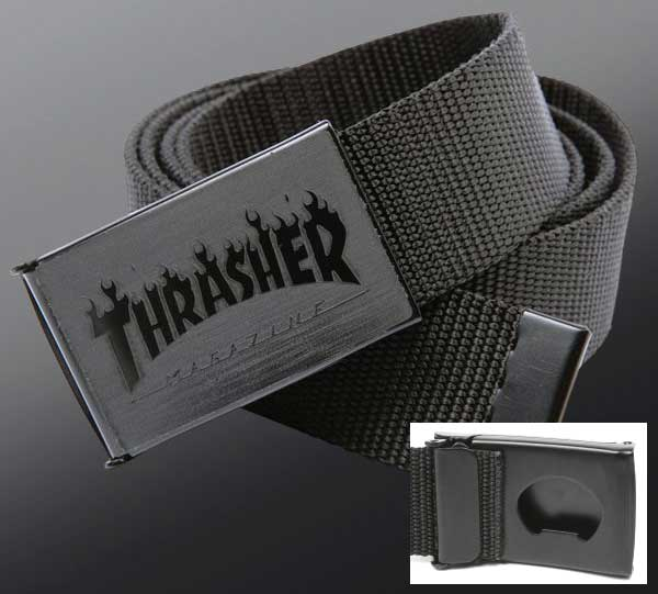 【THRASHER】FLAMES LOGO WEB BELT