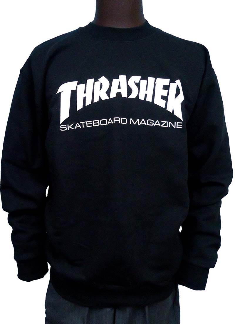 【THRASHER】MAGAZINE LOGO CREWNECK 2COLORS ステッカープレゼント!