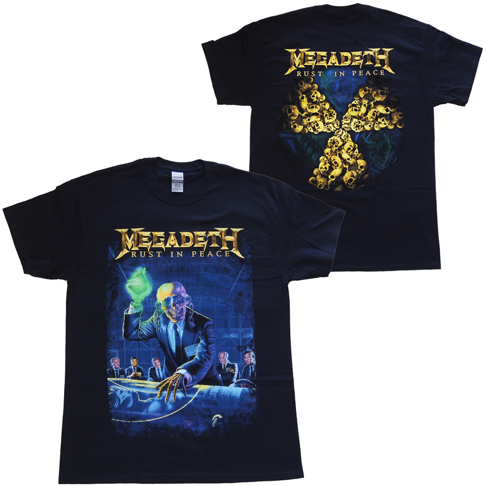 メガデス・MEGADETH・RUST IN PEACE 30TH ANNIVERSARY・UK版・Tシャツ・ バンドTシャツ