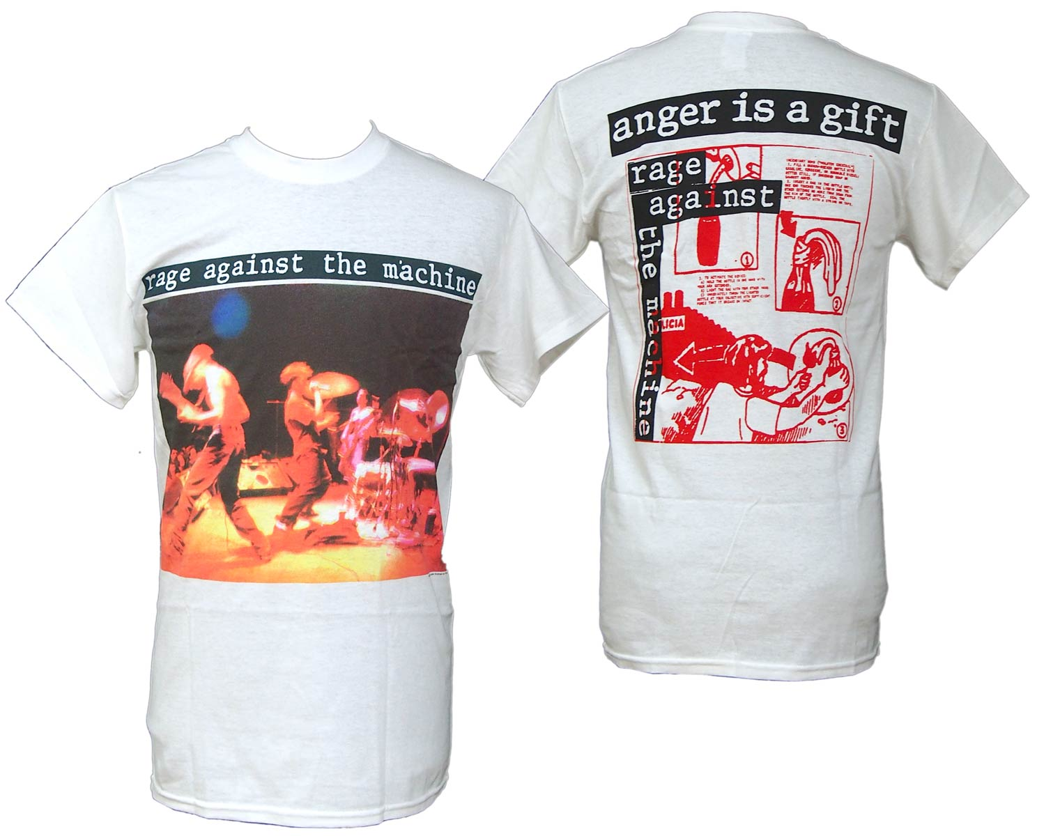 RAGE AGAINST THE MACHINE レイジ アゲインスト ザ マシーン ANGER GIFT Tシャツ オフィシャル
